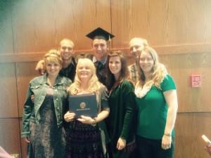 Family at grad