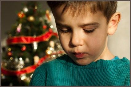 Journey Through Divorce -Unhappy child on Christmas